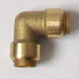 Brass Push Fit 90 Degree Elbow Bend 15mm - 27121500